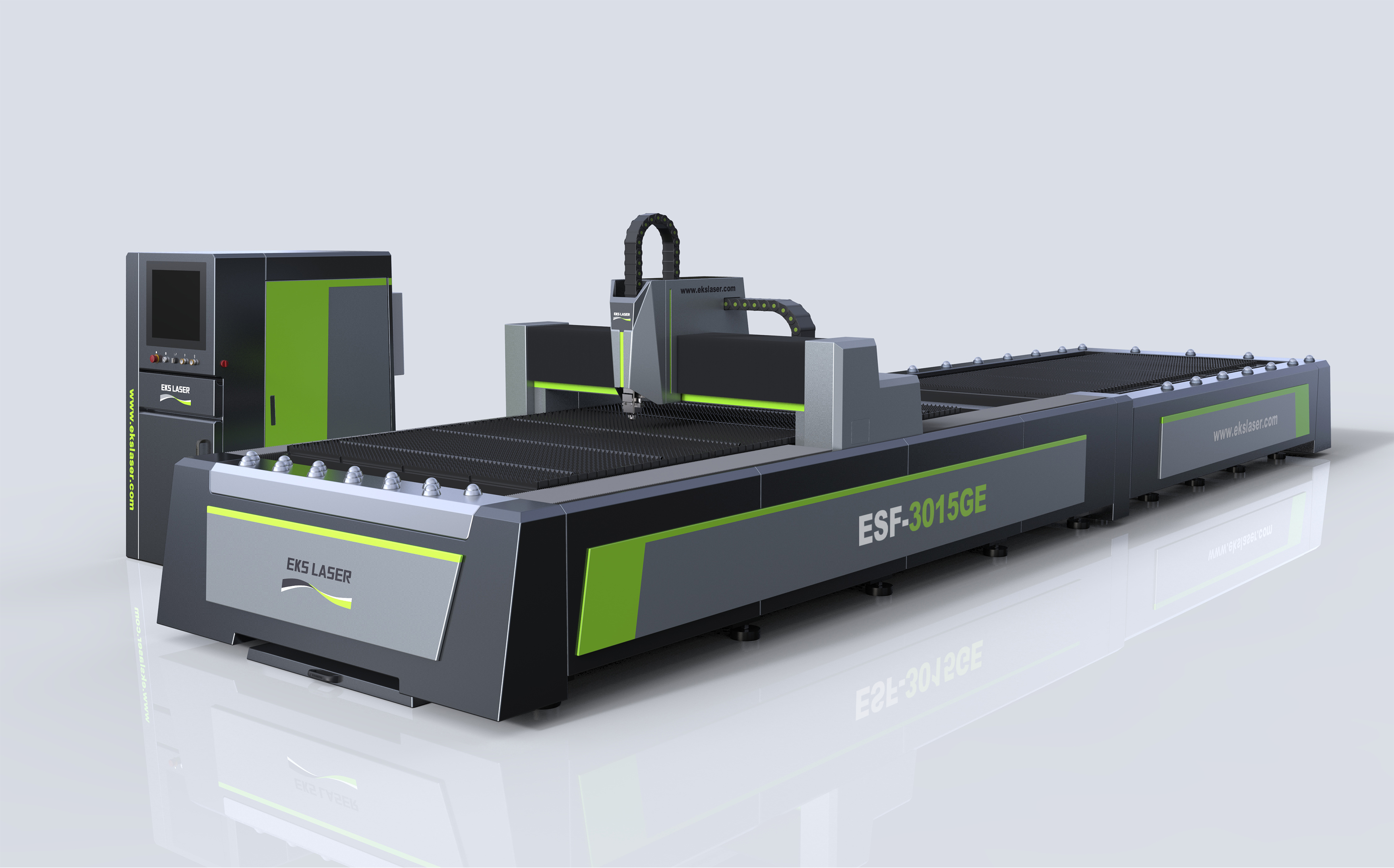 Industrial intelligent interactive double table metal laser cutting machine