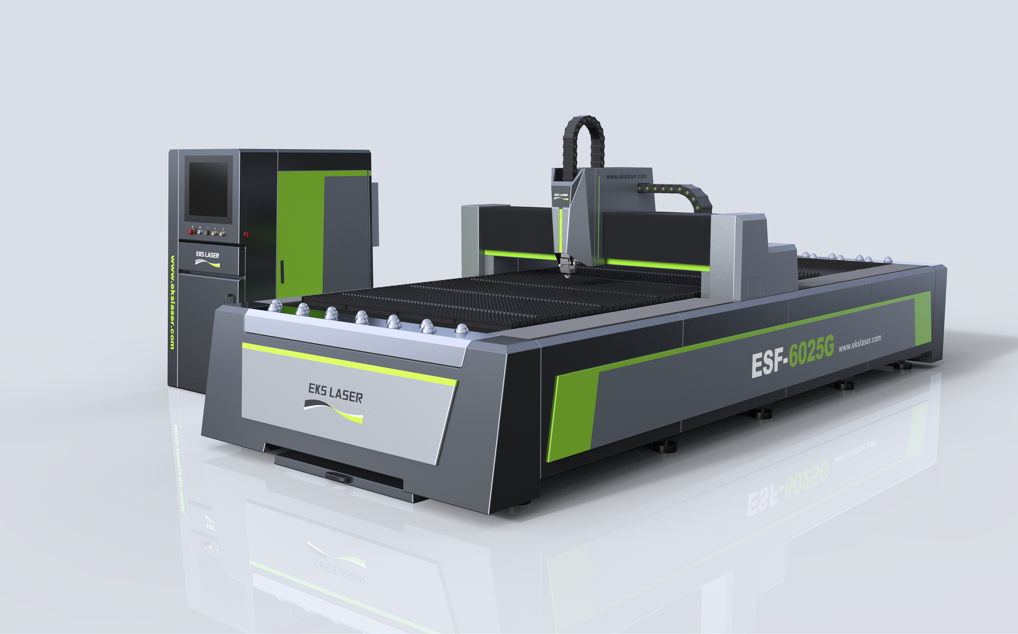 Large format stainless steel fiber laser template cutting machine