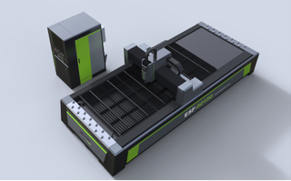 High-power and high-efficiency metal template laser cutting machine