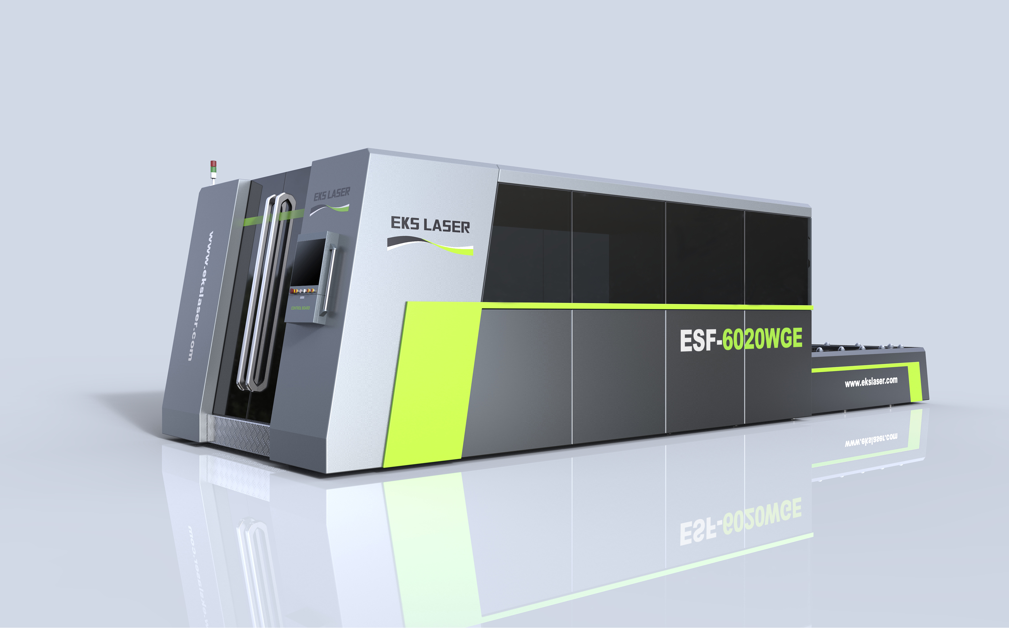 Special dual-platform fiber laser cutting machine for auto parts industry