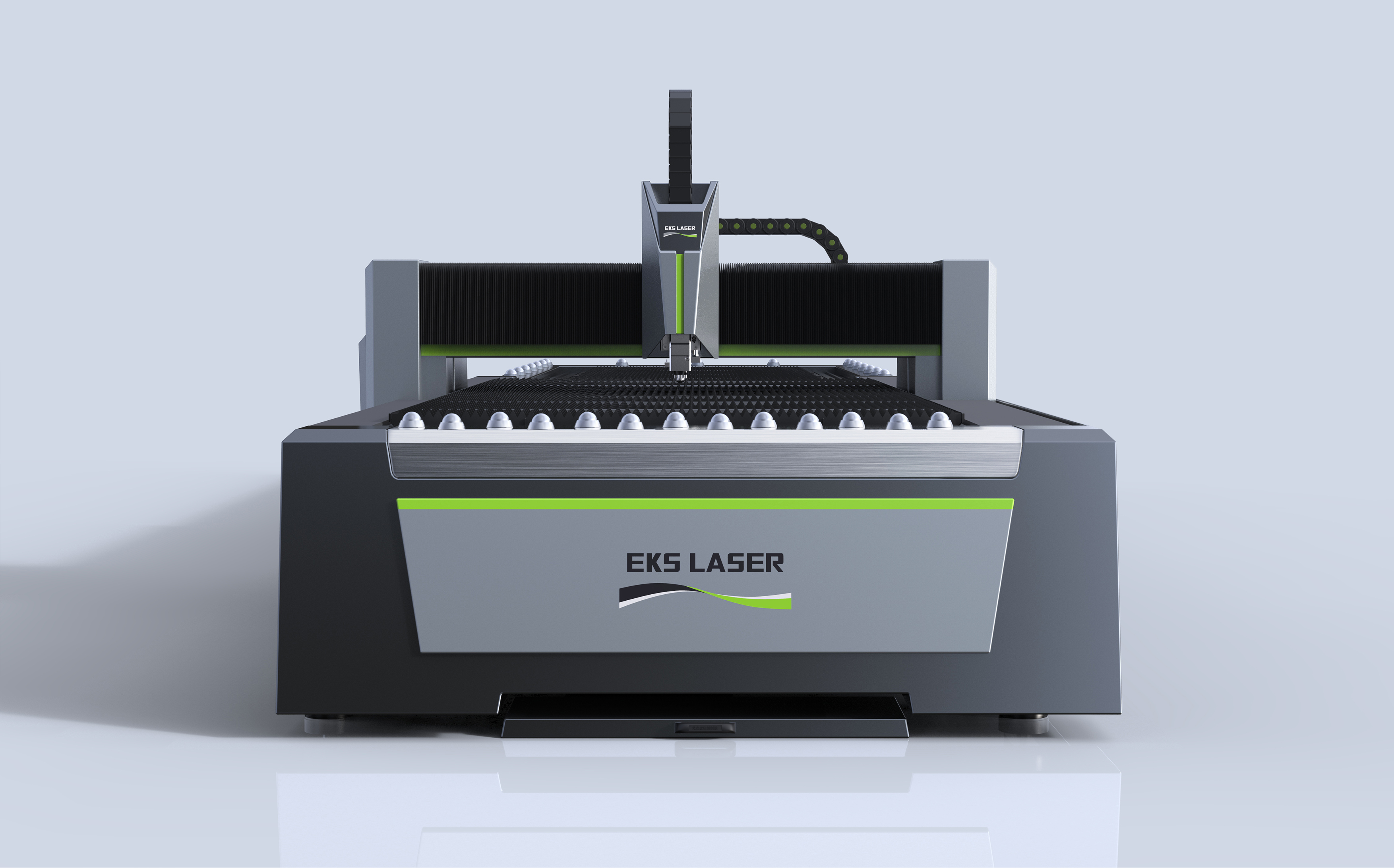 Medium-power dual-table fiber laser cutting machine for lighting hardware